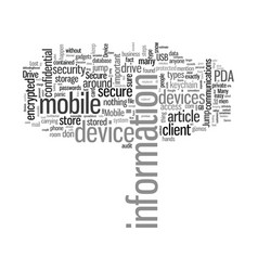 Is your mobile device secure vector