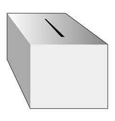 isolated ballot box vector image