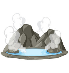 Isolated hot springs on white background vector