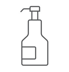 Kitchen syrup thin line icon sauce and food vector
