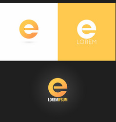 letter E logo design icon set background vector image