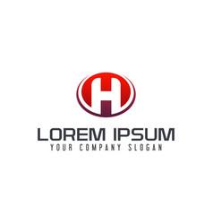 letter h emblem logo design concept template vector image