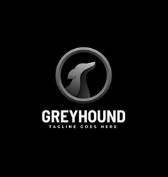 Logo grey hound gradient colorful style vector