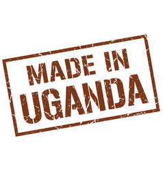 Made in uganda stamp vector