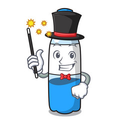 Magician water bottle mascot cartoon vector