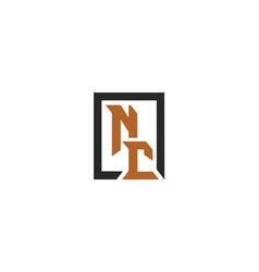 nc-font-logo vector image