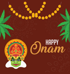onam is an annual holiday and festival celebrated vector image