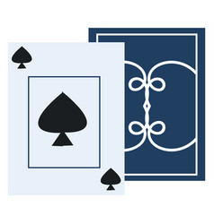 one play card spades on white background vector image