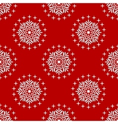 ongoing christmas snowflakes background vector image