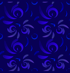pattern from violet doodles and curls in floral vector image