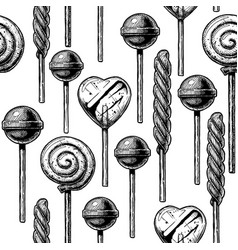 pattern with different sweets vector image
