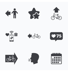 Pedestrian road icon Bicycle path trail sign vector image