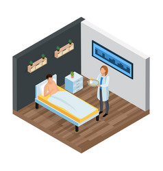 Probiotic clinic isometric composition vector