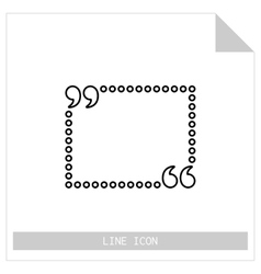 Quote box Isolated linear icon vector image