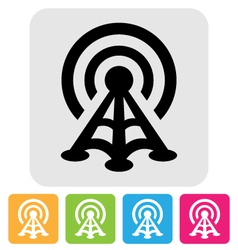 Radio tower icon vector