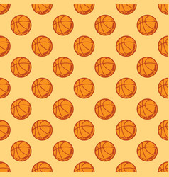 seamless color basketball background vector image