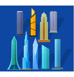 skyscrapers vector image