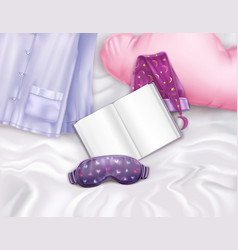 Sleep accessories composition vector