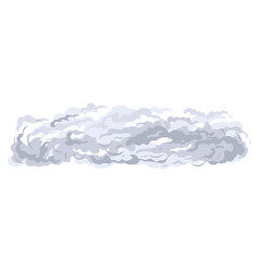 smoke spreads on ground isolated vector image