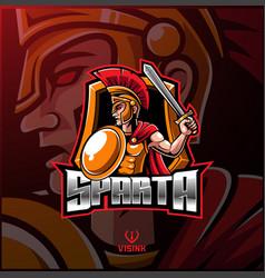 Spartan sport mascot logo design vector