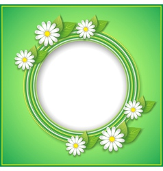 Spring or summer background with decorative flower vector image vector image