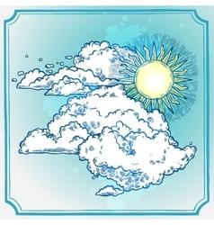 Sunny sky frame vector