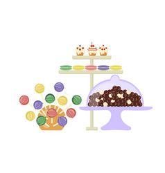 sweet shop banner vector image