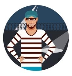thief in prison vector image