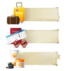 Travelling banners vector