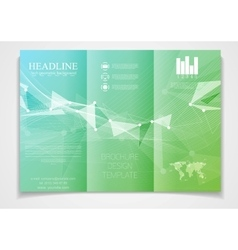 Tri-fold brochure design template vector image