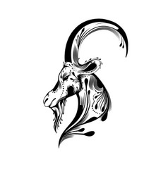 Tribal goat head tattoo vector