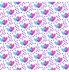 valentines hand drawn seamless pattern-04 vector image