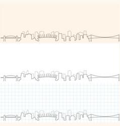 vancouver hand drawn skyline vector image