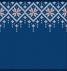 Winter knitted wool sweater pattern with vector