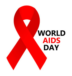 World aids day symbol hope red ribbon vector