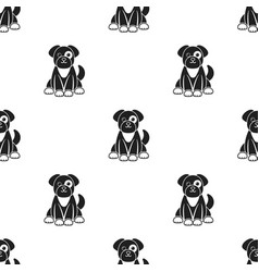 dog icon in black style isolated on white vector image