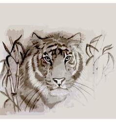 original handdrawn tiger vector image