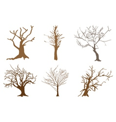 A Set of Abstract Isometric Brown Trees vector image