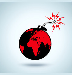 Earth bomb vector image vector image