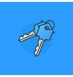 House keys colorful sign vector image vector image