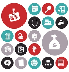 icons for business and job vector image