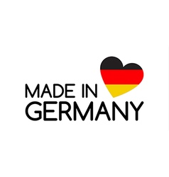 Made in Germany symbol with the heart vector image