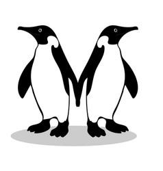 penguin friendship symbol loyalty vector image vector image
