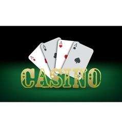 Poker cards Casino vector image