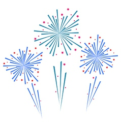Sketch abstract colorful exploding firework vector