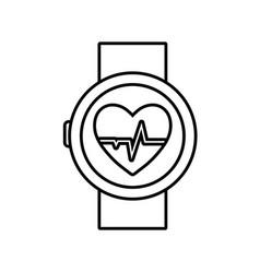 smartwatch icon image vector image