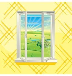 summer window vector image vector image
