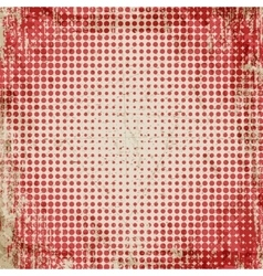 Abstract grunge vintage background of red dots vector image