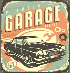 Car service - Promotional retro design concept vector image vector image