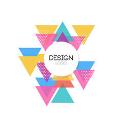 design logo template colorful abctract geometric vector image vector image